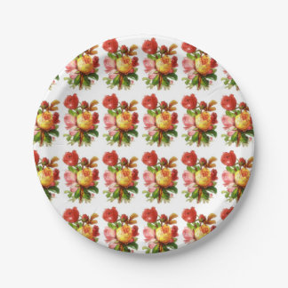 English Rose Paper Plates 7 Inch Paper Plate