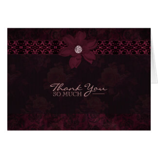 English Rose - Purple & Lace - Thank You Card