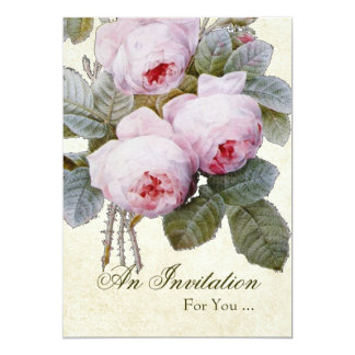 English Rose Retirement Party 5x7 Paper Invitation Card
