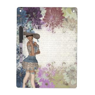 English rose romantic girl Dry-Erase board
