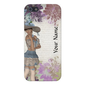 English rose romantic girl iPhone SE/5/5s cover