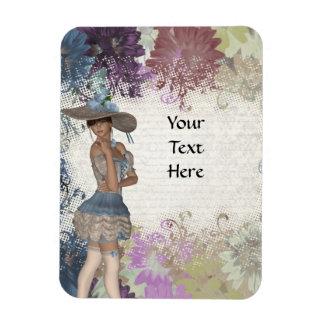 English rose romantic girl magnet