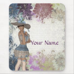 English rose romantic girl mouse pad