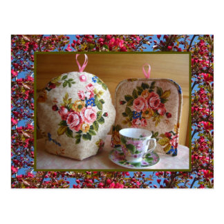 English Rose Tea Cozy Postcard