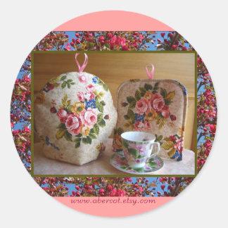 English Rose Tea Cozy Stickers