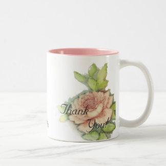 English Rose Thank You Mug-Customize Two-Tone Coffee Mug