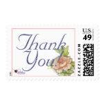 English Rose Thank You Postal Stamp-Customize
