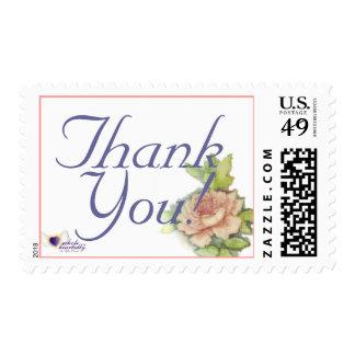 English Rose Thank You Postal Stamp-Customize Stamps
