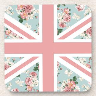 English Roses Union Jack Flag Coaster