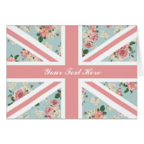 English Roses Union Jack Floral Pattern