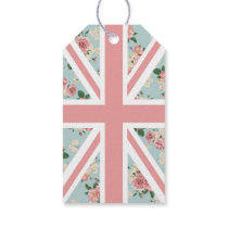 English Roses Union Jack Floral Pattern Gift Tags