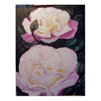 English Roses WaterColor Postcard