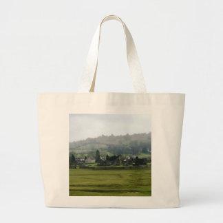 English Ruins Canvas Bags