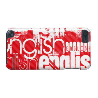 English; Scarlet Red Stripes iPod Touch 5G Cases