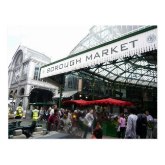 English Scenes, Borough Market, London Postcard