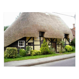 English Scenes, Half timbered cottage Postcard
