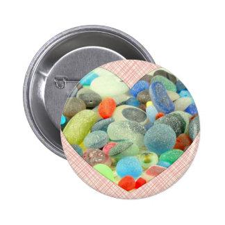 English Sea Glass Pinback Button