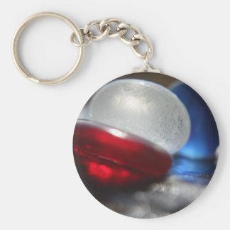 English Sea glass Basic Round Button Keychain