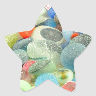 English Sea Glass Star Sticker