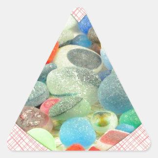 English Sea Glass Triangle Stickers