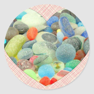 English Sea Glass Round Stickers