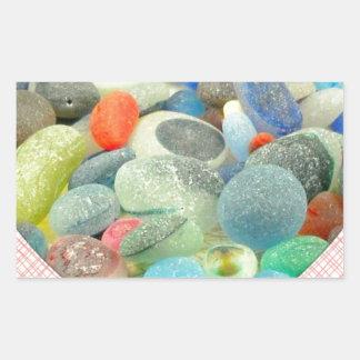 English Sea Glass Rectangular Stickers