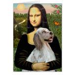 English Setter 1 - Mona Lisa Greeting Cards
