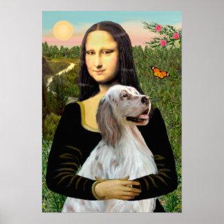English Setter 1 - Mona Lisa Poster