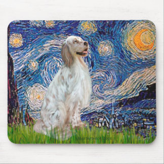 English Setter 1 - Starry Night Mouse Pad