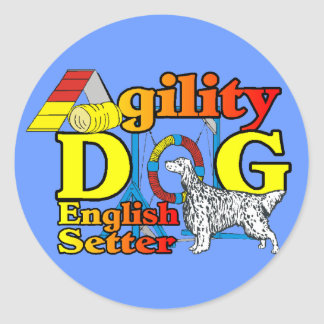 English Setter Agility Gifts Classic Round Sticker