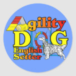 English Setter Agility Gifts Stickers
