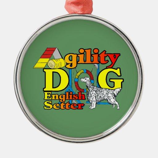 English Setter Agility Ornament
