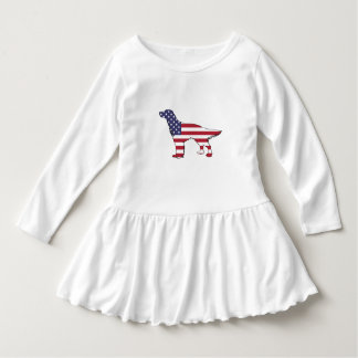 "English Setter - ""American Flag"" Dress"