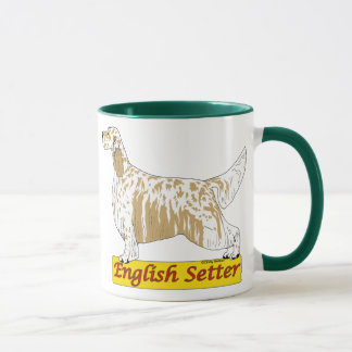 English Setter- blue and orange belton Mug