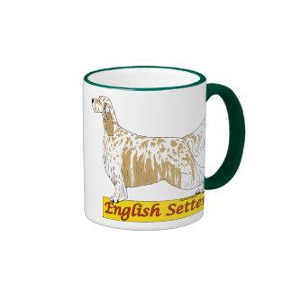 English Setter- blue and orange belton Mugs