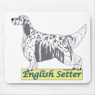 English Setter -blue belton Mouse Pad