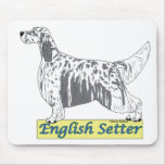 English Setter -blue belton Mouse Pads