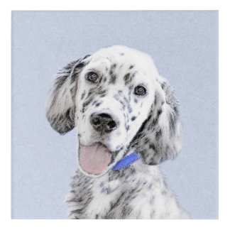 English Setter Blue Belton Painting Dog Art