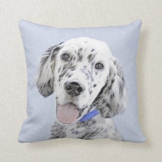 English Setter (Blue Belton) Throw Pillow