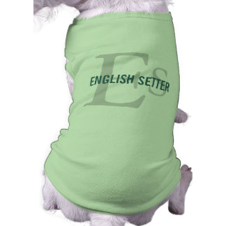 English Setter Breed Monogram Shirt