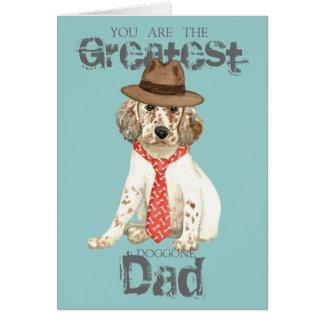 English Setter Dad Card