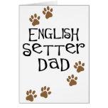 English Setter Dad Greeting Card