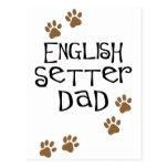 English Setter Dad Postcard