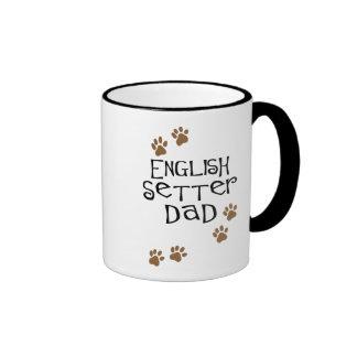 English Setter Dad Ringer Coffee Mug