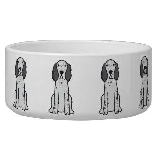 English Setter Dog Cartoon Bowl