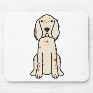 English Setter Dog Cartoon Mouse Pad