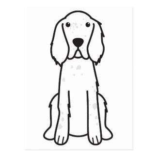 English Setter Dog Cartoon Postcard