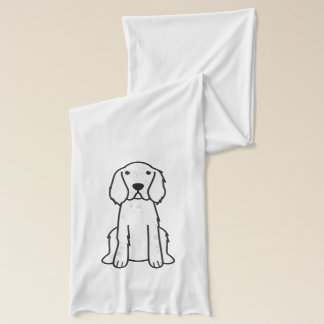 English Setter Dog Cartoon Scarf