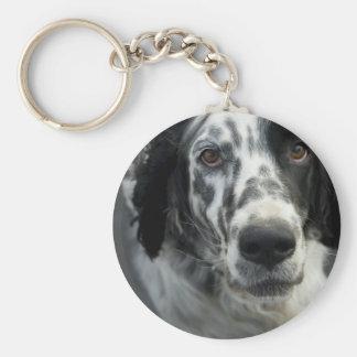 English Setter Dog Keychain