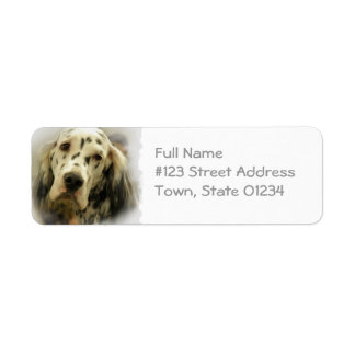 English Setter Dog Return Address Label